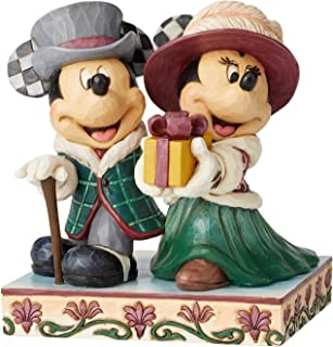 Enesco Disney Tradition Mickey and Minnie Victorian Christmas Figurine