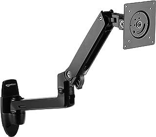 AmazonBasics Premium Wall Mount Monitor Stand - Lift Engine Arm Mount, Aluminum (Renewed)