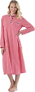 PajamaGram Women's Long Fleece Nightgown - Womens Christmas Nightgown