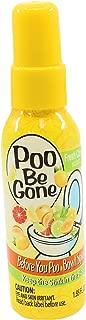 Poo Be Gone Toilet Spray 1.85oz - Before You Go Toilet Bathroom Deodorizer - Fresh Citrus Scent (2)