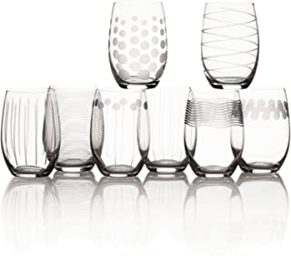 Mikasa Cheers Stemless Wine Glass, 17-Ounce, Set of 8