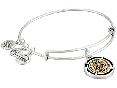 Alex and Ani Two-Tone Carpe Diem Bangle Bracelet (Rafaelian Silver) Bracelet