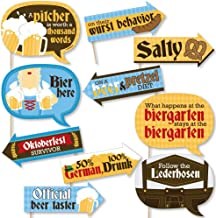 Funny Oktoberfest - German Beer Festival Photo Booth Props Kit - 10 Piece