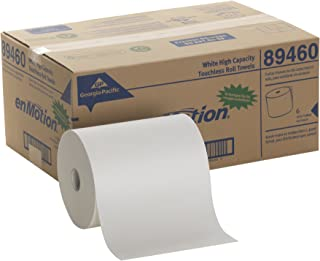 "enMotion 10"" Paper Towel Roll by GP PRO (Georgia-Pacific), White, 89460, 800 Feet Per Roll, 6 Rolls Per Case"
