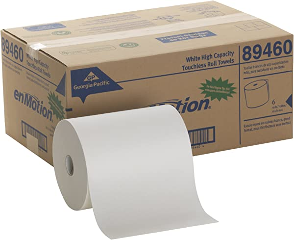 EnMotion 10 Paper Towel Roll By GP PRO Georgia Pacific White 89460 800 Feet Per Roll 6 Rolls Per Case