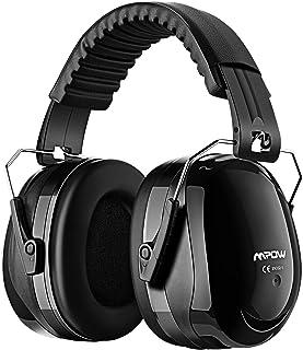 MPOW 防音イヤーマフ 遮音ヘッドホン 遮音値34dB 超弾力性ヘッドバンド ANSI S3.19&CE EN352-1認証済み 聴覚保護 騒音対策 ブラック