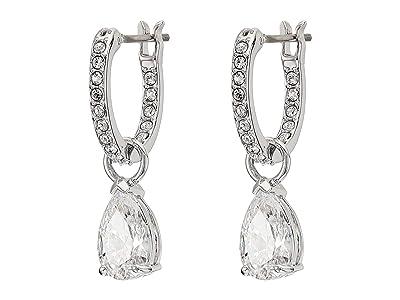 Swarovski Attract Pear Mini Hoop Pierced Earrings (Silver) Earring