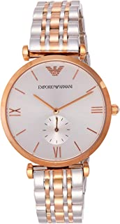 Women's Quartz Watch with Stainless-Steel-Plated Strap, Two Tone, 18 (Model: AR1677
