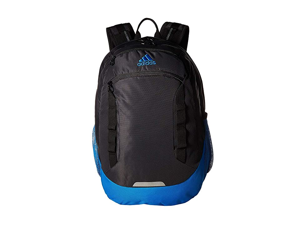 adidas Excel IV Backpack (Carbon Bright Blue Black) Backpack Bags 42f0abc102