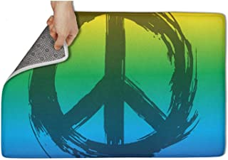 UIIE Gay Flag LGBT Flag Sign Culture Symbol Peace ShowerShoe Rugs Front Welcome Easy Clean 15.55