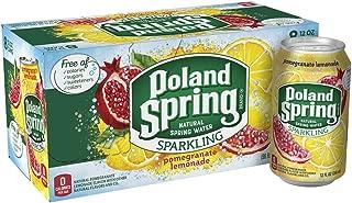 Poland Spring Sparkling Water, Pomegranate Lemonade, 12 oz. Cans (Pack of 8)