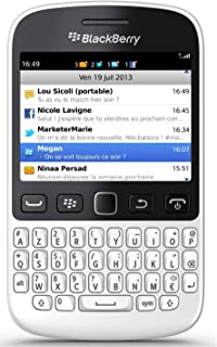 BlackBerry 9720 Unlocked Gsm Os 7.1 Cell Phone W Qwerty Keybaord White Black