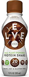 Evolve Protein Shake, Classic Chocolate, 20g Protein, 12 Fl Oz (Pack of 12)