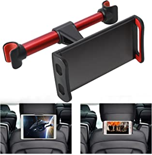 360° Rotation Car Headrest Mount, Phone Tablet Car Headrest Grip Mount Stand Cradle Bracket Holder for iPad/ Samsung Galaxy Tabs/ Amazon Kindle Fire 4 ~11 inch Smartphones and Tablets (Red)