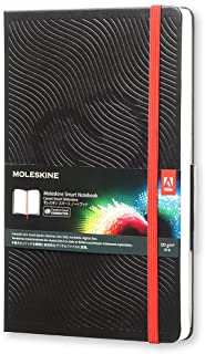Moleskine Smart Notebook, Cuaderno Digital con Páginas Blancas Conectadas a la App Creative Cloud Connected, Tapa Dura, Tamaño Grande 13 x 21 cm, Negro, 600 Páginas