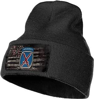 FORDSAN CP 10th Mountain Division Insignia Mens Beanie Cap Skull Cap Winter Warm Knitting Hats.