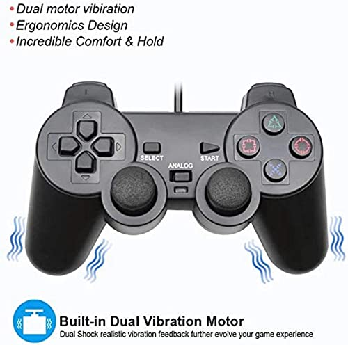 PS2 Wired Dualshock Controller for Playstation-2 (Generic)