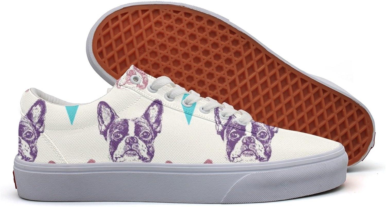 Kvinnor Bulldog Mönster Egen duk skor skor skor for Girls  väntar på dig