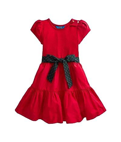 Polo Ralph Lauren Kids Tiered Stretch Interlock Dress (Toddler)
