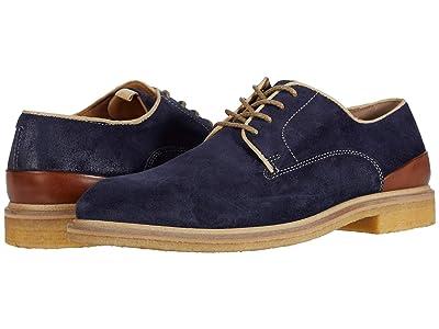 J&M Collection Wagner Plain Toe (Navy) Men