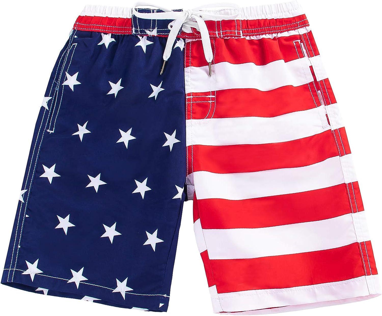 Kute 'n' Koo Boys Swim Trunks, UPF 50+ Quick Dry Boys Swim Shorts, Toddlers Swim Trunks Size from 2T to 18/20: Clothing