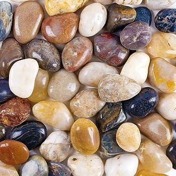 Natural Polished Decorative Gravel, 10.10Pounds Decorative Pebbles River Rock  Stones fish tank gravel