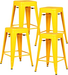 Best yellow counter height stools Reviews