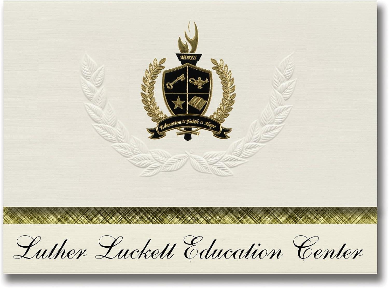 Signature Ankündigungen Luther LUCKETT Bildung Center (La Grange, KY-) Graduation Ankündigungen, Presidential Stil, Elite Paket 25 Stück mit Gold & Schwarz Metallic Folie Dichtung B078TSYQD7  | Bestellungen Sind Willkommen