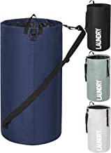 Chrislley 106L Extra Large Laundry Hamper Collapsible Laundry Bag Backpack Tall Waterproof Laundry Basket Standing Foldabl...