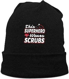 This Superhero Wears Scrubs Beanie Hats Womens Warm Winter Skull Cap