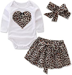 Janly Baby Clothes for 0-24 Months Infant Newborn Baby Girls ValentineS Day Heart Print Ruffles Romper Bodysuit Sale Buy Now