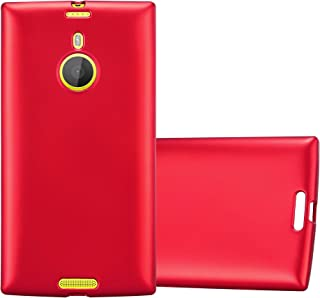 Cadorabo Case Works with Nokia Lumia 1520 in Metallic RED – Shockproof and Scratch Resistant TPU Silicone Cover – Ultra Slim Protective Gel Shell Bumper Back Skin