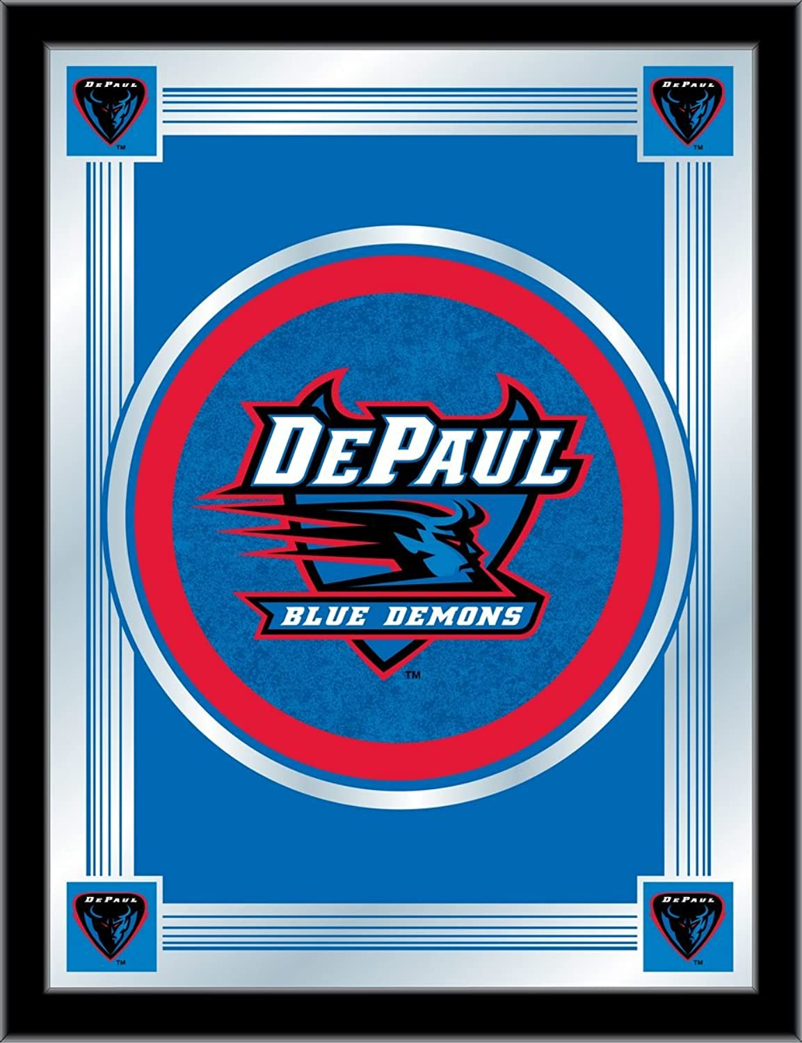 Holland Bar Stool NCAA DePaul bluee Demons Logo Mirror, 17 X 22-Inch