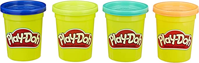 Hasbro E4867AS00 Play-Doh Modeling Compound 4-Pack of 4-Ounce Cans (Wild Colors) - Assorted Colors