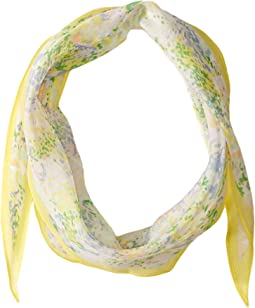 Ditzy Floral Silk Diamond Shape Scarf