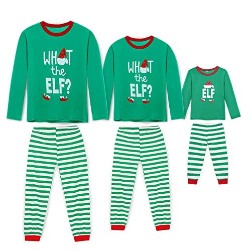 Rnxrbb Holiday Christmas Pajamas Family Matching Pjs Set Xmas Jammies for  Couples and Kids Green Cotton b8ce414dc