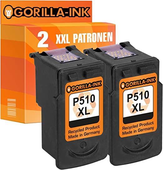 Gorilla Ink Set 2 Druckerpatronen Für Canon Pg 510 Xl Cl 511 Xl 1x Black 1x Color Je Patrone 15ml Xxl Inhalt Bürobedarf Schreibwaren