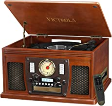 Victrola 8-in-1 Bluetooth Record Player & Multimedia Center, Built-in Stereo Speakers - Turntable, Wireless Music Streamin...