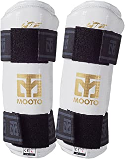 Mooto Taekwondo Forearm Protector WTF Approved TKD Guard Black & White XS to XL