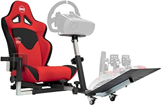 OpenWheeler GEN2 Racing Wheel Stand Cockpit Red on Black | Fits All Logitech G29 | G920 | All Thrustmaster | All Fanatec W...