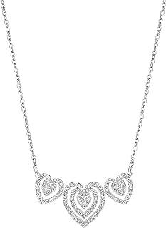 Swarovski Women's Rhodium Plated Necklace - 5142737