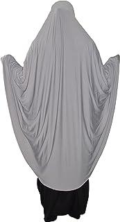 per chador elasticizzata per muslimah arabia un pezzo unico Hijab Sciarpa per la testa di Amira islamica per preghiera pronta alluso in Lycra