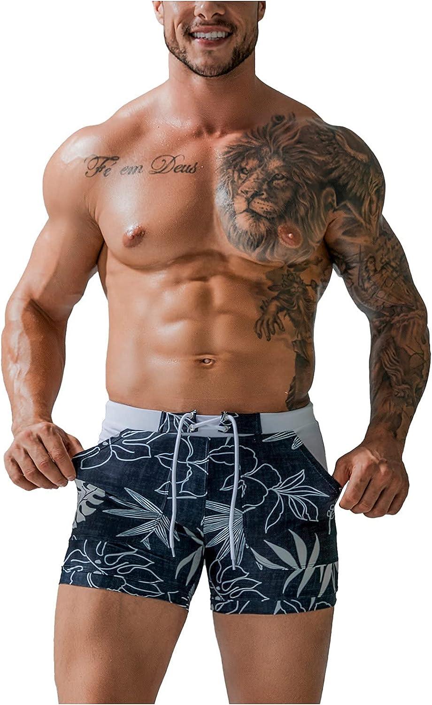 ZCAITIANYA Men's Quick Dry Print Beach Shorts Swim Trunks Boxer Shorts Casual Summer Fashion Drawstring with Pockets