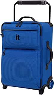 it luggage World's Lightest Los Angeles Softside Upright, Strong Blue, Carry-On 22-Inch