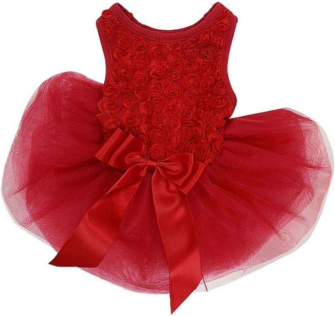 Super special price Kirei Sui Rosettes Dog 1 year warranty S Red Dress