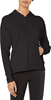 Hanes Women's Full Zip Hood, Ebony, Medium