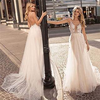Wedding Dress Gown Evening Dress Satin Lace Jewel Lace V Back Sexy Chapel Women Sweetheart Bride Bridal S