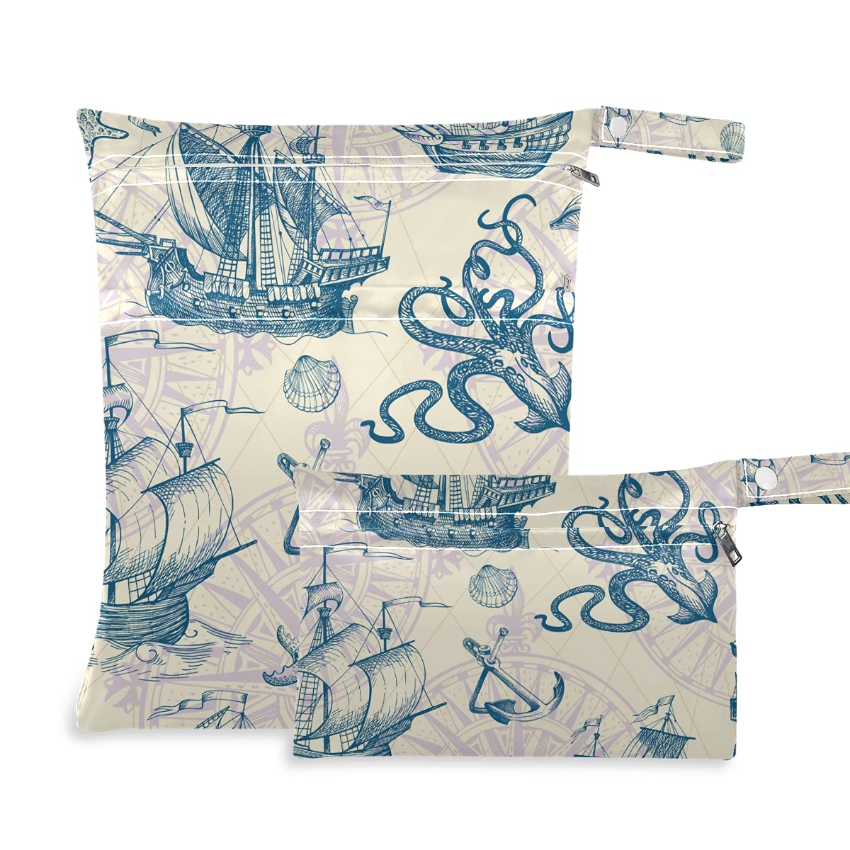 Vintage Sailboat Wet Max 48% OFF Dry Bag Popularity Swimsui for Reusable Diaper