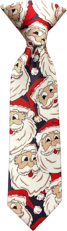 Jacob Alexander Toddler Boys' Jolly Santa 8 inch Clip-On Neck Tie