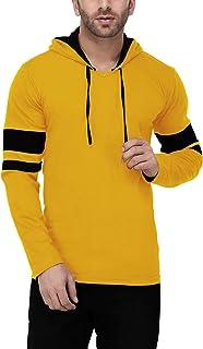 Katso Men's Cotton Hooded Stripe T-Shirt